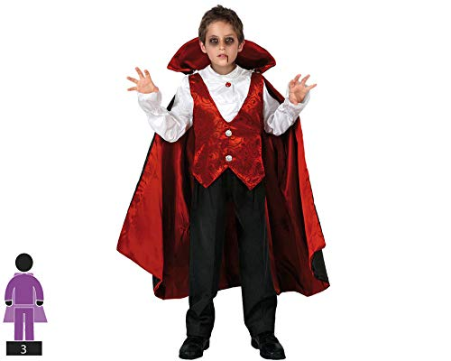 Atosa-95282 Costume-Déguisement Vampire 5-6 Ans, 95282, Roug