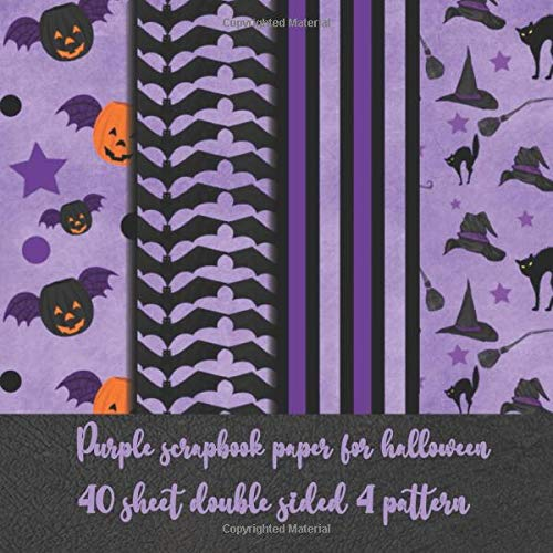 Purple scrapbook paper for halloween 40 sheet double sided 4