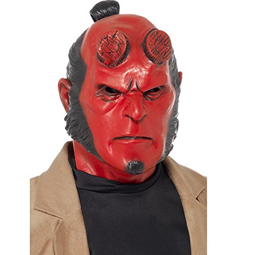 Smiffys 39989 Déguisement Homme Masque Latex Hellboy Couvre