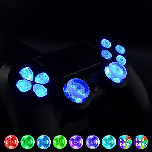 eXtremeRate LED Kit(DTF) Boutons Touches D-Pad Joystick avec