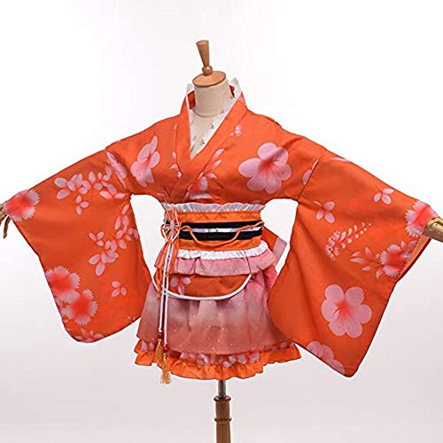 OUJIE Yukata pour Dames, Cosplay, Décoration dhalloween, Cos