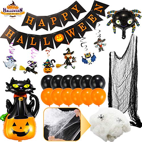 Flyfun Halloween Décoration Toile daraignée 300g+50 Fausses